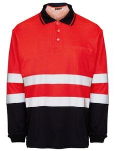 Seana 71507 - Poloshirt hi-vis l / s bicolore rdfl