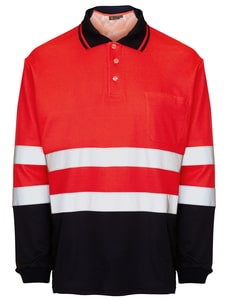 Seana 71507 - Poloshirt hi-vis l/s bicolour rdfl