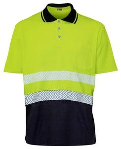 Seana 72505 - Poloshirt hi-vis s/s 50/50 bicolour premium