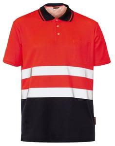Seana 72507 - Poloshirt hi-vis s/s 50/50 bicolour rdfl