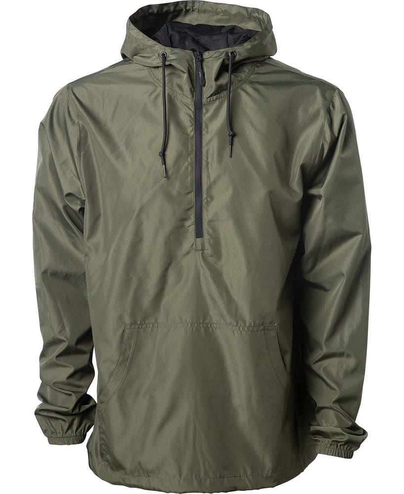 Independent Trading Co. EXP54LWP - Adult Lightweight Pullover Windbreaker Anorak Jacket