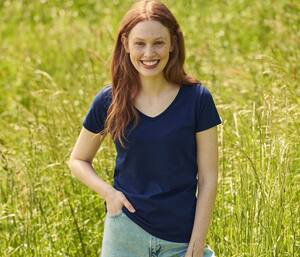 FRUIT OF THE LOOM SC155 - T-shirt femme col V
