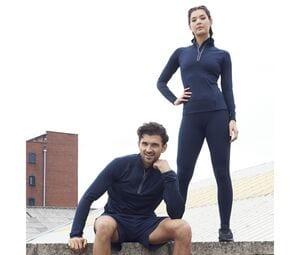 JUST COOL JC035 - T-shirt de sport femme col zippé