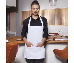Karlowsky KYBLS6 - Basic Short Bib Apron with Buckle and Pocket
