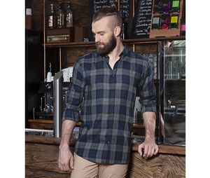 Karlowsky KYBM8 - Urban-Style mens checked shirt