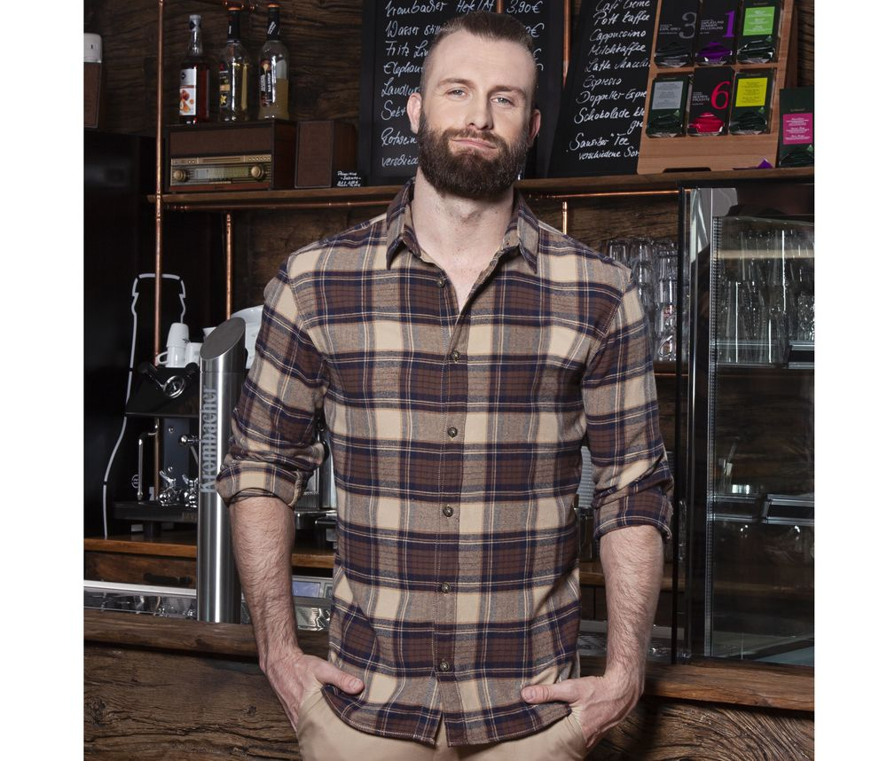 Urban-Trend-men's-checked-shirt-Wordans