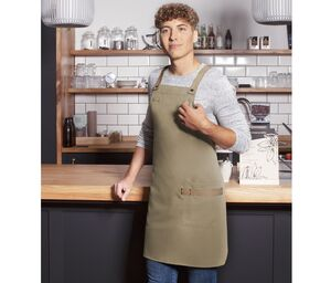 Karlowsky KYLS38 - Urban-Look bib apron with crossed straps and pocket