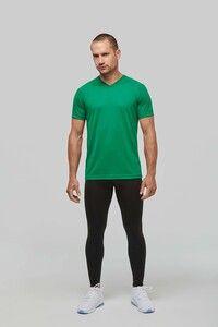 PROACT PA476 - Herren Kurzarm-Sportshirt mit V-Ausschnitt