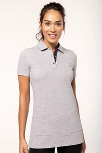 WK. Designed To Work WK209 - Ladies' short-sleeved longline polo shirt