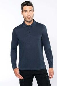 WK. Designed To Work WK276 - Mens long-sleeved polo shirt