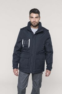 WK. Designed To Work WK6106 - Detachable-sleeved workwear parka