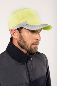WK. Designed To Work WKP123 - Fluoreszierende- 5-Panel-Kappe