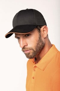 WK. Designed To Work WKP145 - 6-Panel-Cap mit Kontrast-Sandwichschirm Oeko-Tex