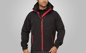 MACSEIS MS10003 - Jacket Softshell Outlook for him Black/RD