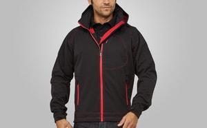 MACSEIS MS10003 - Perspectivas de Softshell de casaco para ele Black/RD
