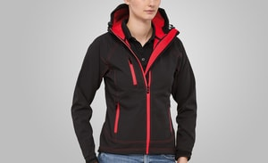MACSEIS MS11003 - Jacket Softshell Outlook for her Black/RD