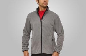MACSEIS MS33005 - Cardigan de velo macio para ele Cinzento-pedra