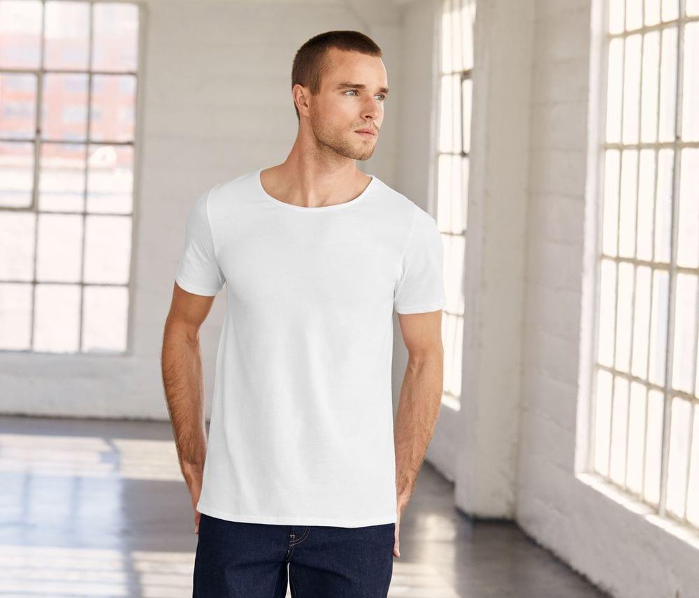 Men's-t-shirt-with-raw-edge-collar-Wordans