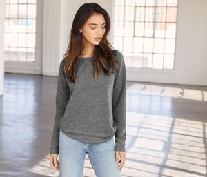 Bella+Canvas BE7501 - Damen Sweatshirt mit weitem Kragen