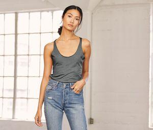 Bella + Canvas BE8430 - Camiseta sin mangas con espalda cruzada para mujer
