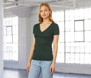 Bella+Canvas BE8435 - Womens Tri-blend V-neck T-shirt