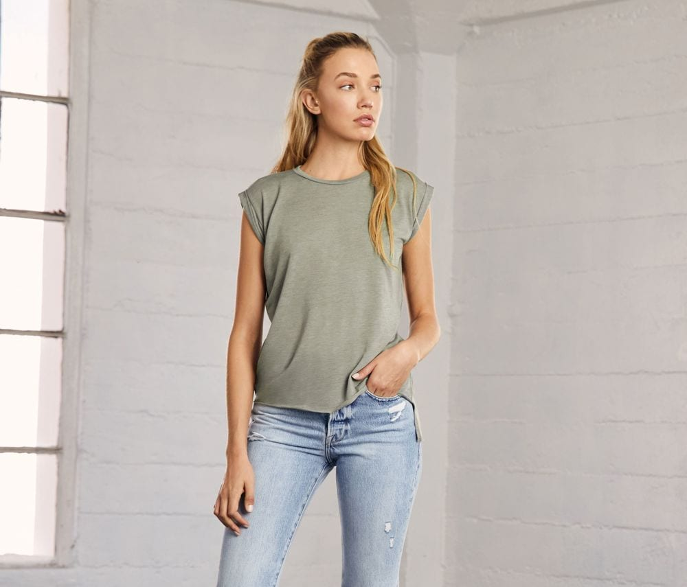 Women's-t-shirt-with-rolled-sleeves-Wordans