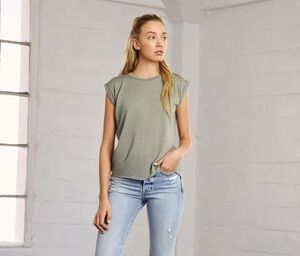 Bella+Canvas BE8804 - Damen T-Shirt mit gerollten Ärmeln
