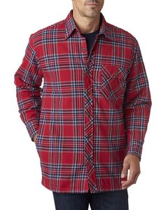 Backpacker BP7002 - Mens Flannel Shirt Jacket with Quilt Lining