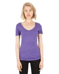 Simplex Apparel SI3020 - Ladies 4.6 oz. Tri-Blend Deep V-Neck T-Shirt