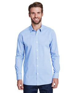Artisan Collection by Reprime RP220 - Mens Microcheck Gingham Long-Sleeve Cotton Shirt
