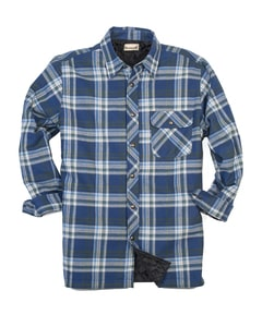 Backpacker BP7002T - Mens Tall Flannel Shirt Jacket with Quilt Lining