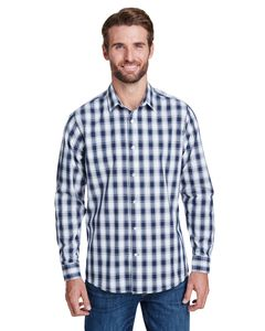 Artisan Collection by Reprime RP250 - Mens Mulligan Check Long-Sleeve Cotton Shirt