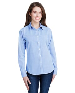 Artisan Collection by Reprime RP320 - Ladies Microcheck Gingham Long-Sleeve Cotton Shirt