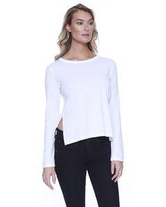 StarTee ST1471 - Ladies CVC High Low Long-Sleeve T-Shirt