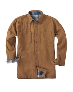 Backpacker BP7006T - Mens Tall Canvas Shirt Jacket with Flannel Lining