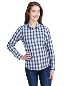 Artisan Collection by Reprime RP350 - Ladies Mulligan Check Long-Sleeve Cotton Shirt