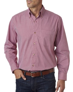 Backpacker BP7011T - Mens Tall Yarn-Dyed Micro-Check Woven