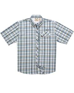 Backpacker BP7015 - Mens Sport Utility Short-Sleeve Plaid Shirt
