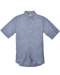 Backpacker BP7019 - Mens Slub Chambray Short-Sleeve Shirt