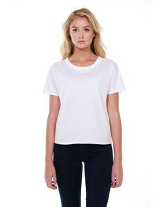 StarTee ST1017 - Ladies 3.5 oz., 100% Cotton Raw-Neck Boxy T-Shirt