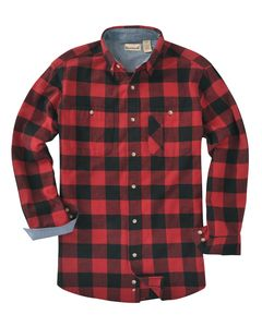 Backpacker BP7040T - Mens Tall Yarn-Dyed Long-Sleeve Brushed Flannel