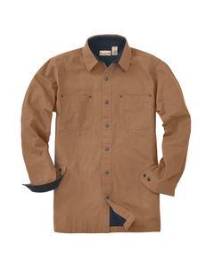 Backpacker BP7043T - Mens Tall Great Outdoors Long-Sleeve Jac Shirt