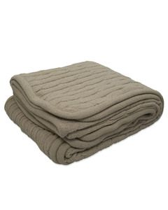 Kanata Blanket CABLE - Cable Knit Lambswool Blanket