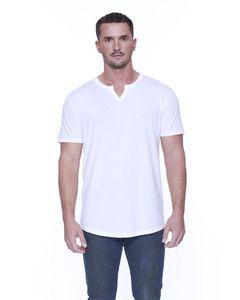 StarTee ST2422 - Mens 4.3 oz., CVC  Slit V-Neck T-Shirt