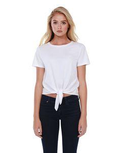 StarTee ST1026 - Ladies Cotton Tie Front T-Shirt