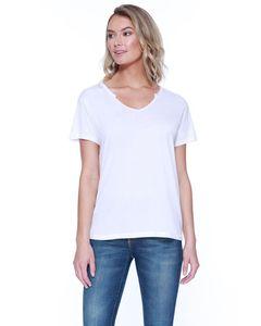 StarTee ST1823 - Ladies Cotton/Modal Open V-Neck T-Shirt