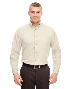 UltraClub 8960C - Adult Cypress Long-Sleeve Twill with Pocket