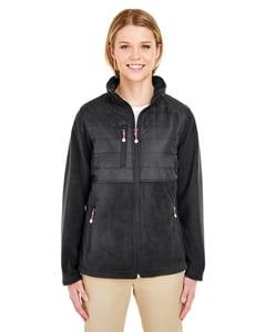 UltraClub 8493 - Ladies Fleece Jacket with Quilted Yoke Overlay
