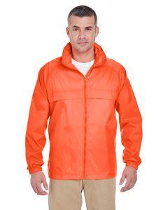 UltraClub 8929 - Adult Full-Zip Hooded Pack-Away Jacket