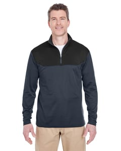 UltraClub 8233 - Adult Cool & Dry Sport Colorblock Quarter-Zip Pullover